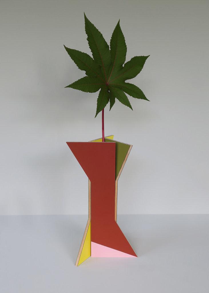 vase colonne polychrome